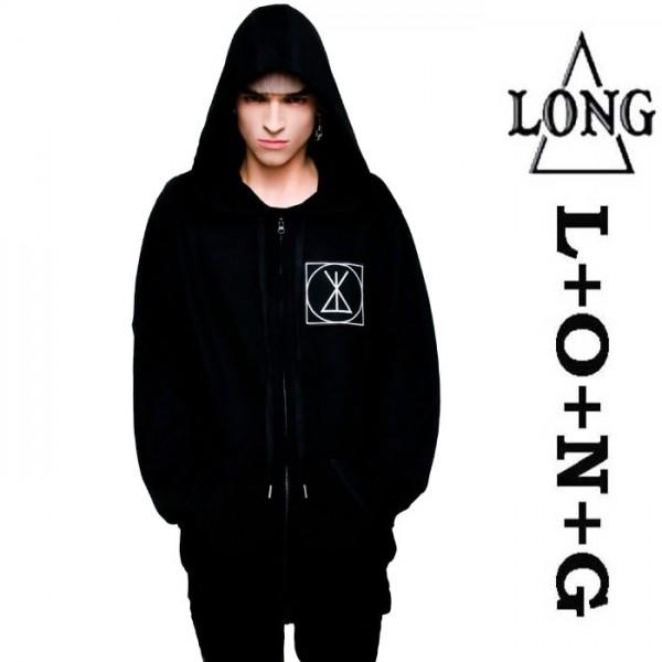 LONG CLOTHING ロングクロージング ZIP UP ICON ジップアップ パーカー フーディ ...