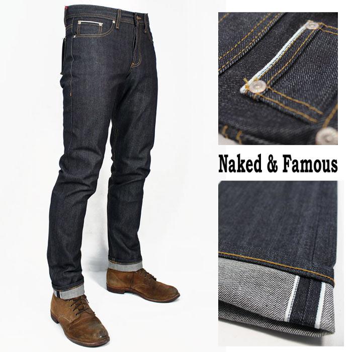 le dernier 42e68 ec5c2 Skinny denim naked&famous denim jeans Okayama denim Kinney jeans rigid  jeans Kinney men skinny pants punk rock fashion bikie rockabilly Naked and  Fay ...