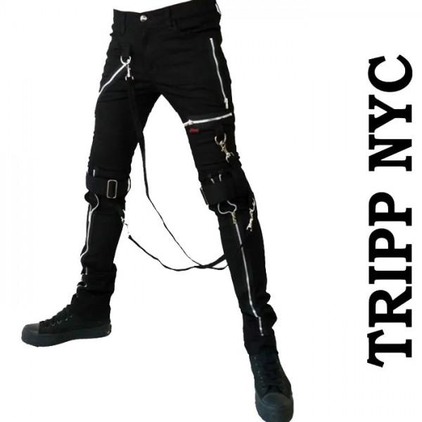 tripp nyc (トリップニューヨーク)ZIP ボンテージパンツ スキニーパンツ パンク ロ...
