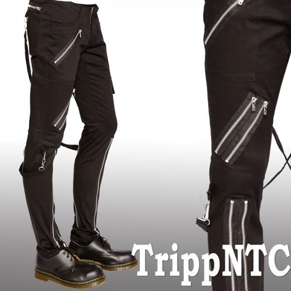 ボンテージパンツ TRIPP NYC (トリップニューヨーク)斜め ZIPスキニー ボンデージ...