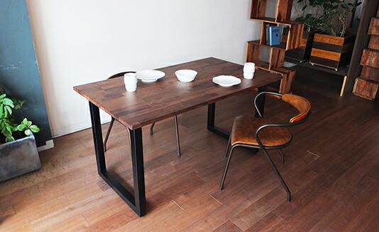 ソリッドダイニングテーブル モザイク
