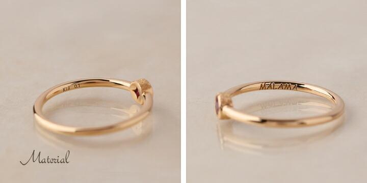 e7289e7c6dc7 上質のルビーが気品漂う大人のゴールドリング。 こちらは色鮮やかなルビーだけを弊社で厳選しおります。 ゴールドと透き通るピンク色が上品で可愛らしく、ピンクの色は  ...