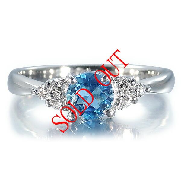サンタマリアアクアマリンの指輪