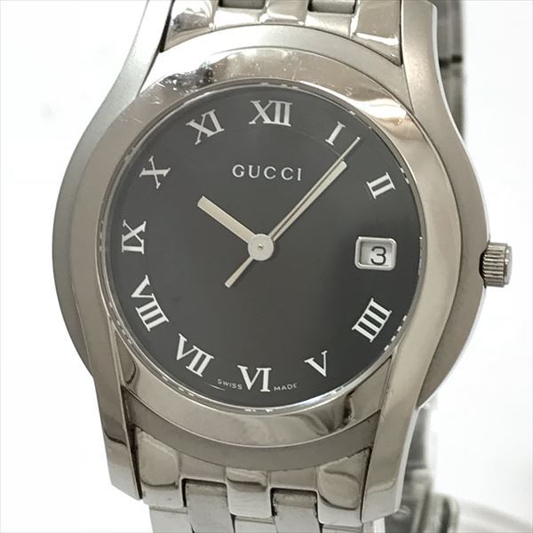 8405ad1c707 GUCCI (Gucci) 5500M black stainless steel (SS) quartz men  used  watch  netshop