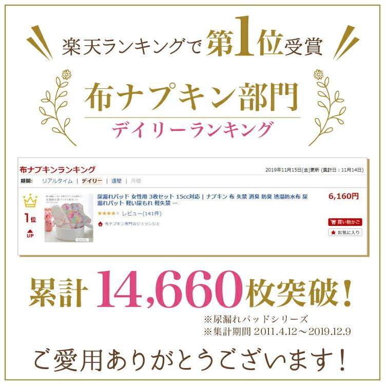 布ナプキンランキング第1位受賞