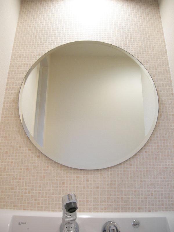 柄なし 丸型W600×H600(面取り)【壁掛け用】 取付例4