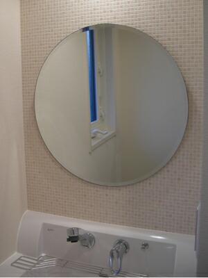 柄なし 丸型W600×H600(面取り)【壁掛け用】 取付例3