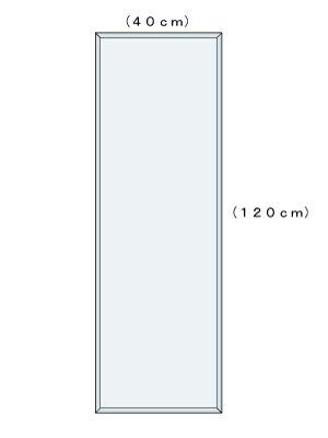 柄なし W400×H1200(面取り)【壁掛け用】図面