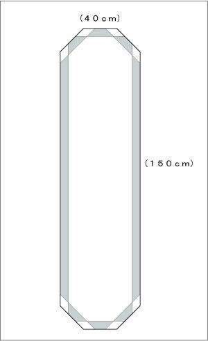 シンプル3 八角形 W400×H1500 図面