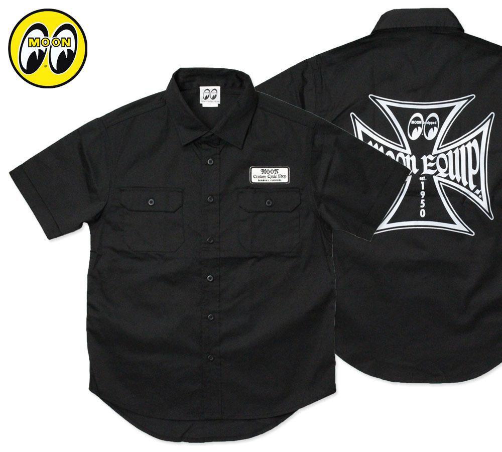ムーンアイズ ワークシャツ MOON Equipped Iron Cross Work Shirt