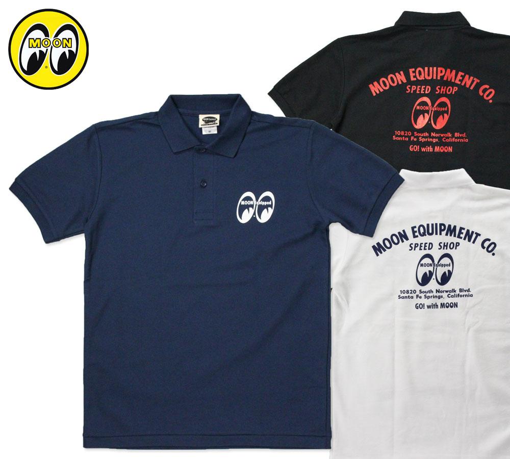 ムーンアイズ ポロシャツ MOON Equipped Speed Shop Polo Shirt