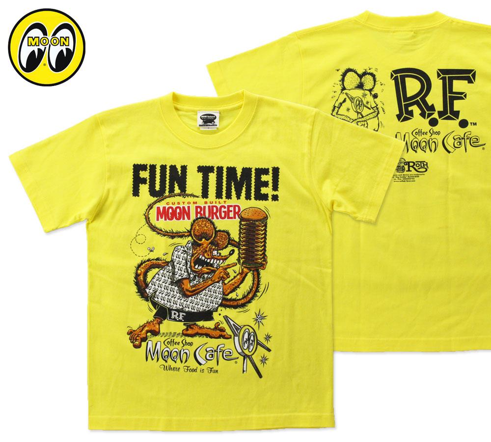 ムーンアイズ Tシャツ ラットフィンク MOON Cafe Fun Time