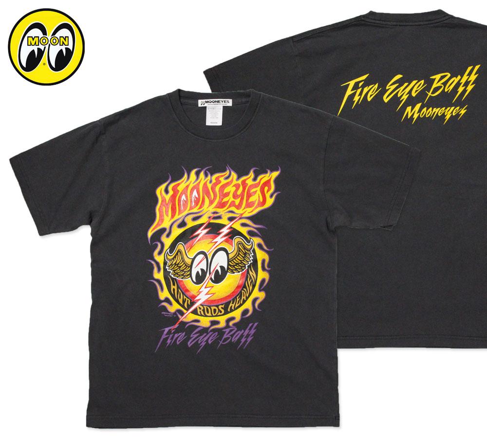 ムーンアイズ Tシャツ MOON Fire EYEBALL