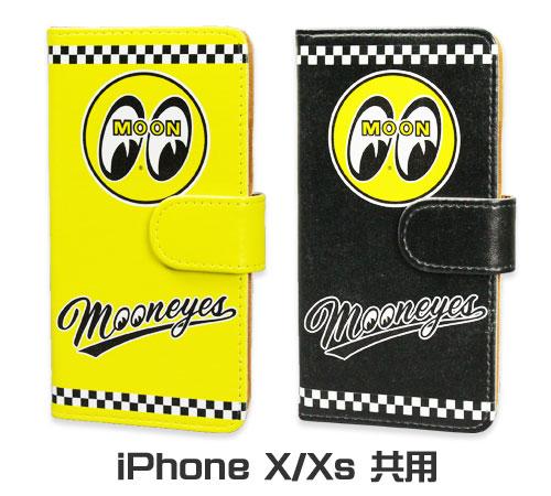 ムーンアイズ(MOONEYES) iPhoneX/Xs ケース 手帳型