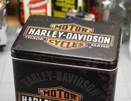 ハーレーダビッドソンティンボックスLサイズHARLEY-DAVIDSONのフタ