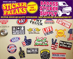 ディープなアメリカンステッカーで車やガレージをドレスアップ♪ ステッカー アメリカン BADASS STICKER SUPPLY2のバナー