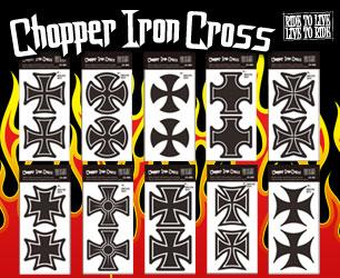 シンプルにデザインされたアイアンクロス!2ピースセット♪ チョッパーアイアンクロスステッカーのバナー
