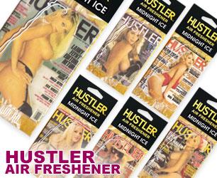 セクシー雑誌「HUSTLER」の表紙デザインがエアフレッシュナーに♪ ハスラー エアフレッシュナーのバナー