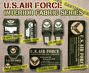 ミリタリーインテリアの演出に大活躍!USエアフォースアイテム♪ US AIR FORCEのインテリア雑貨のバナー
