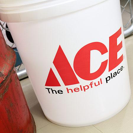 アメリカンバケツ エースハードウェア(ACE Hardware) 約19リットル サイズLのフロント