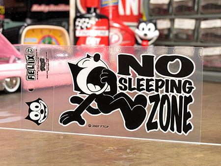 フィリックス・ザ・キャット ステッカー 転写タイプ NO SLEEPING ZONE