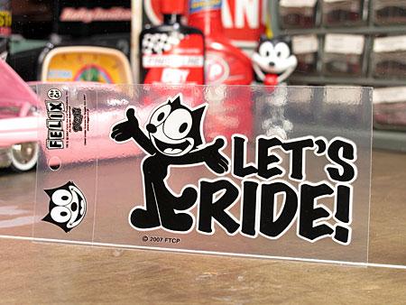 フィリックス・ザ・キャット ステッカー 転写タイプ LET'S RIDE!