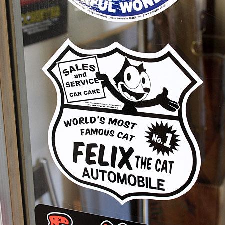 フィリックス・ザ・キャット ステッカー FELIX THE CAT AUTOの使用例