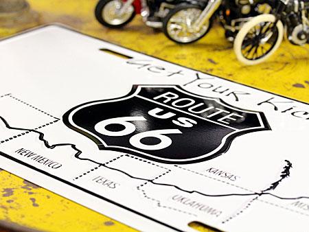 アメリカンライセンスプレート ルート66(ROUTE66) Get Your Kicksの詳細