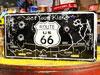 アメリカンライセンスプレート ルート66(ROUTE66) バレットホール