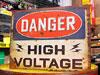 アメリカンインテリアプレート DANGER HIGH VOLTAGE