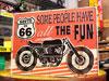 アメリカンインテリアプレート ルート66 クラシックバイク