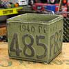 プランター(鉢) アメリカンアンティーク ナンバープレート グリーン サイズS