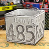 プランター(鉢) アメリカンアンティーク ナンバープレート グレー サイズS