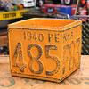 プランター(鉢) アメリカンアンティーク ナンバープレート イエロー サイズS