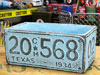 プランター(鉢) アメリカンアンティーク ナンバープレート ブルー サイズL