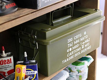 ミリタリーアーモボックス マルチ収納BOX アーミーの使用例1
