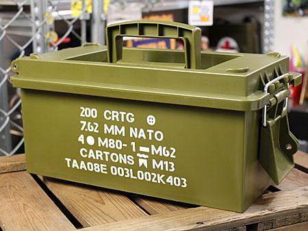 ミリタリーアーモボックス マルチ収納BOX アーミーの使用例2