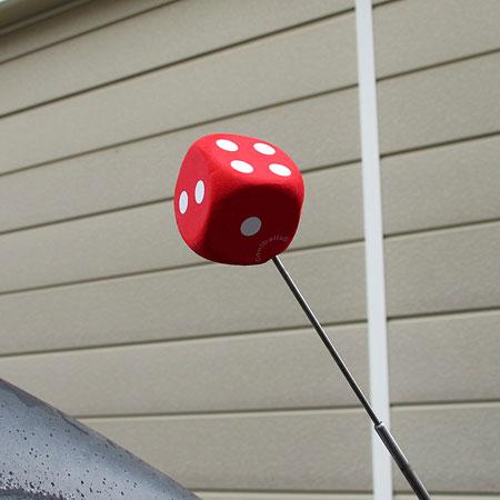 アンテナトッパー サイコロ(ダイス) レッドの使用例