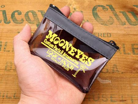 ムーンアイズ コインケース(ポーチ) MOONEYES キーリング付き スモーキーグレーのサイズ