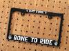 ラットフィンク(RATFINK) ナンバープレートフレーム(ライセンスフレーム) バイク用 ブラック BONE TO RIDE