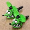 ラットフィンク(RAT FINK) ナンバープレートボルト(ライセンスボルト) 2個セット グリーン