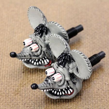 ラットフィンク(RAT FINK) ナンバープレートボルト(ライセンスボルト) 2個セット グレー