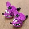 ラットフィンク(RAT FINK) ナンバープレートボルト(ライセンスボルト) 2個セット パープル