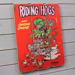 ラットフィンク ポスター サインボード アンティーク調 木製 RatFink RIDING HOGS