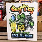 ラットフィンク ポスター キャンバスパネル Rat Fink SURF ALL DAY サイズM