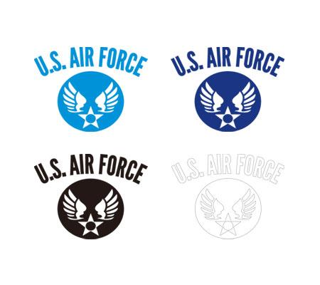 ステッカー US AIR FORCE(アメリカ空軍) ウイングエンブレム 転写タイプ 101型 Sサイズ