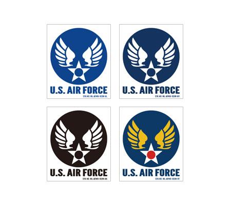 ステッカー US AIR FORCE(アメリカ空軍) ウイングエンブレム 102型 Mサイズ