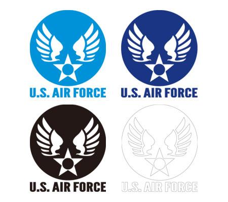 ステッカー US AIR FORCE(アメリカ空軍) ウイングエンブレム 102型 Lサイズ