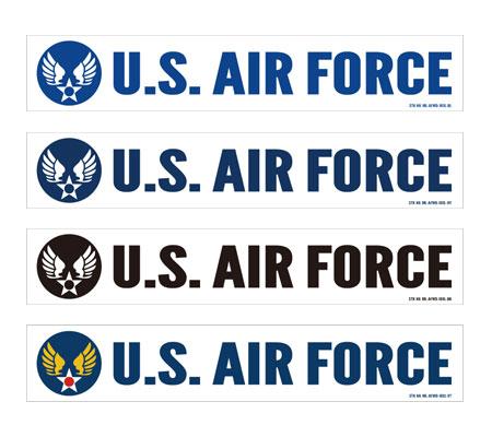 ステッカー US AIR FORCE(アメリカ空軍) ウイングエンブレム 103型 Lサイズ