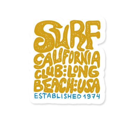 ステッカー SURFS UP DECAL SURF CALIFORNIA